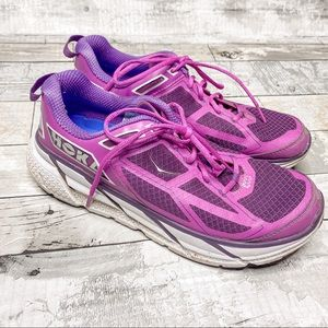 Hoka one one Clifton 1 purple running shoe